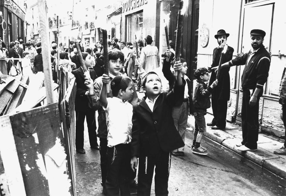 Défilé de lag baomer, rue des rosiers, années 80