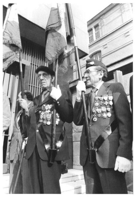 Résistants juifs au mémorial, années 80